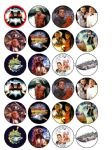24 Back to the Future Edible Wafer Paper Rice Cup Cake Toppers